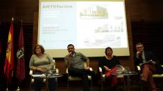 Los ediles Yolanda Rodríguez, Nacho Murgui, Esther Gómez y el director general de descentralización. (Foto: Madrid)