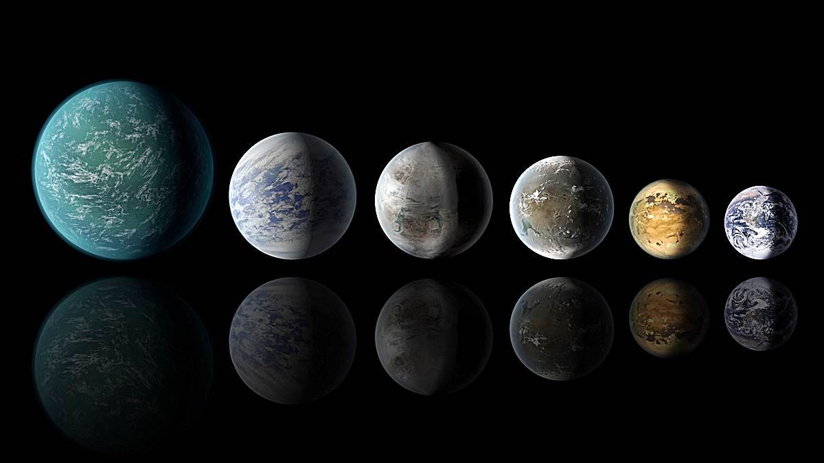 doodle planetas similares tierra a