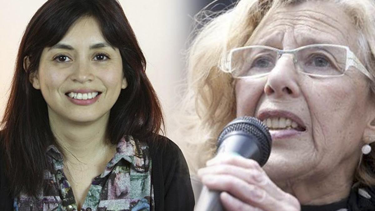 Manuela Carmena, alcaldesa de Madrid y Rommy Arce, concejal del Distrito de Usera.