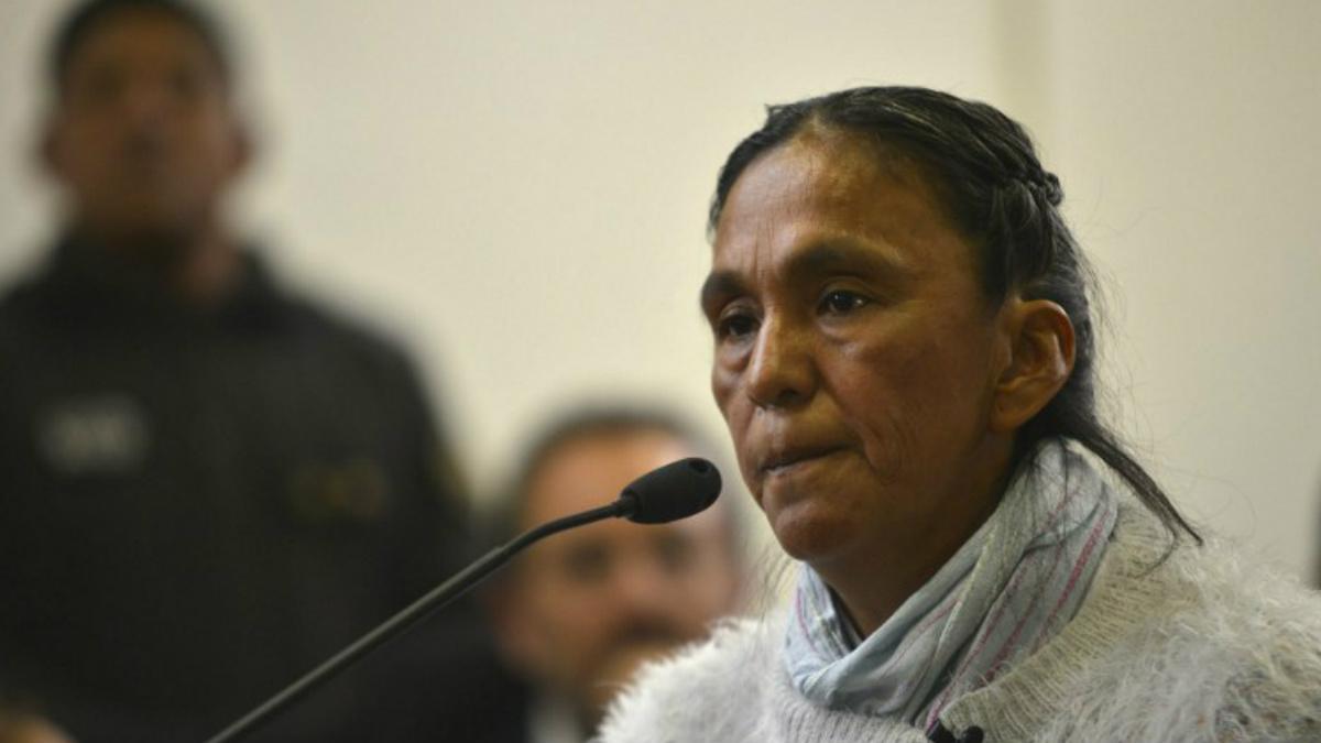 Milagro Sala declarando ante el juez. Foto: AFP