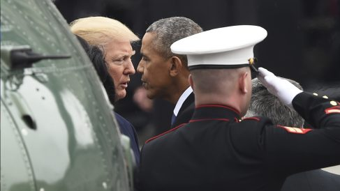 Donald Trump y Barack Obama. (Foto: AFP)