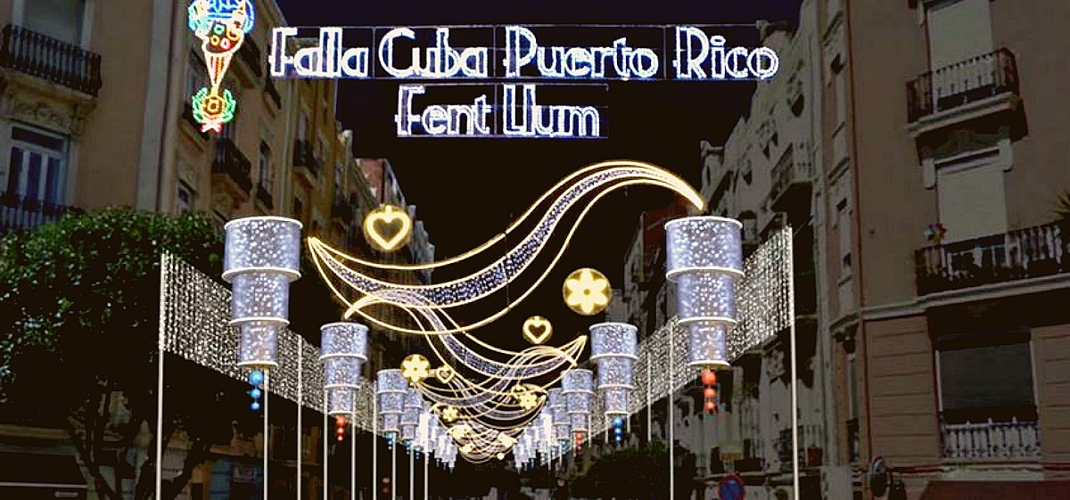 Proyecto luces Falla Cuba-Puerto Rico 2017