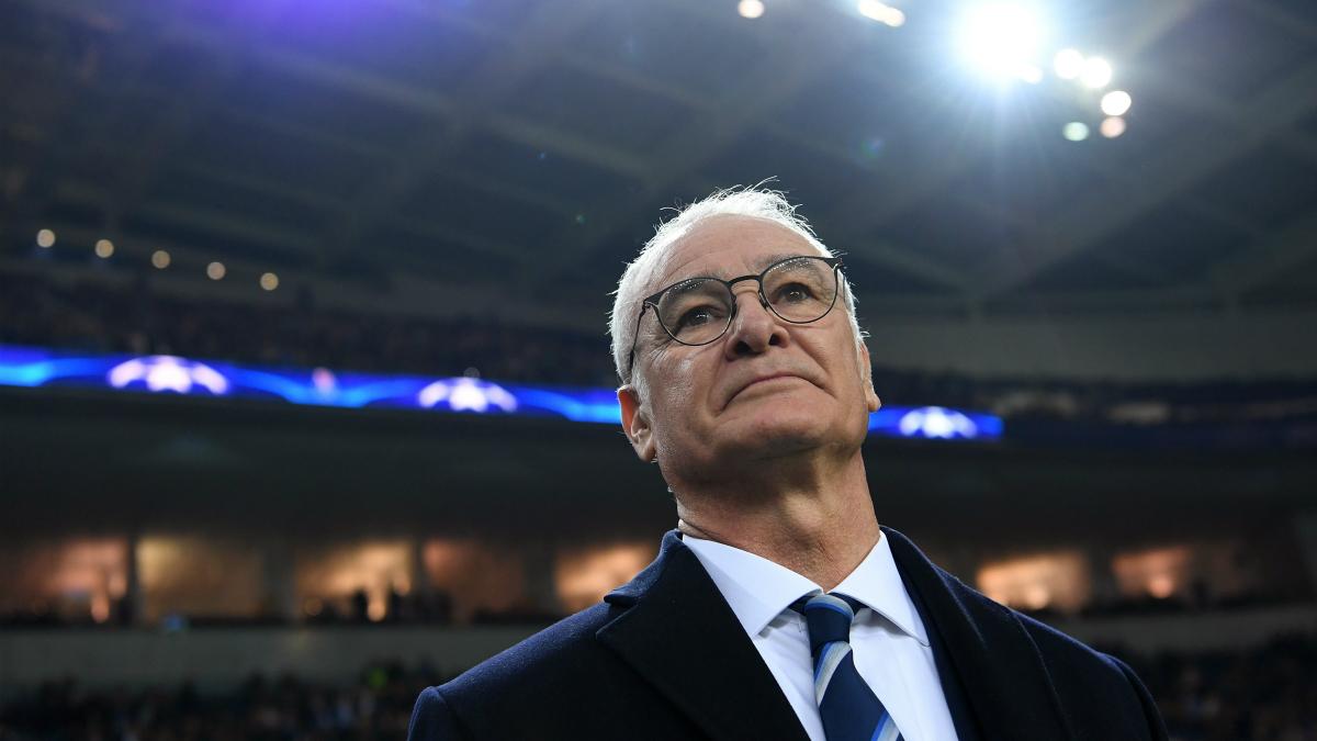 Claudio Ranieri, en un partido del Leicester. (Getty)