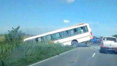 Imagen de archivo de un accidente de autobús.