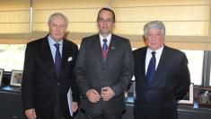 A la izquierda Miguel Corsini y a la derecha Arturo Fernández tras un acto en la Cámara de Comercio de Madrid (Foto: Cámara de Comercio)