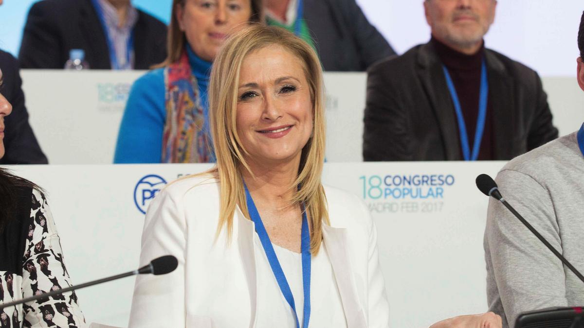 Cristina Cifuentes en el Congreso Nacional del PP. (Foto: Alberto Cuéllar)
