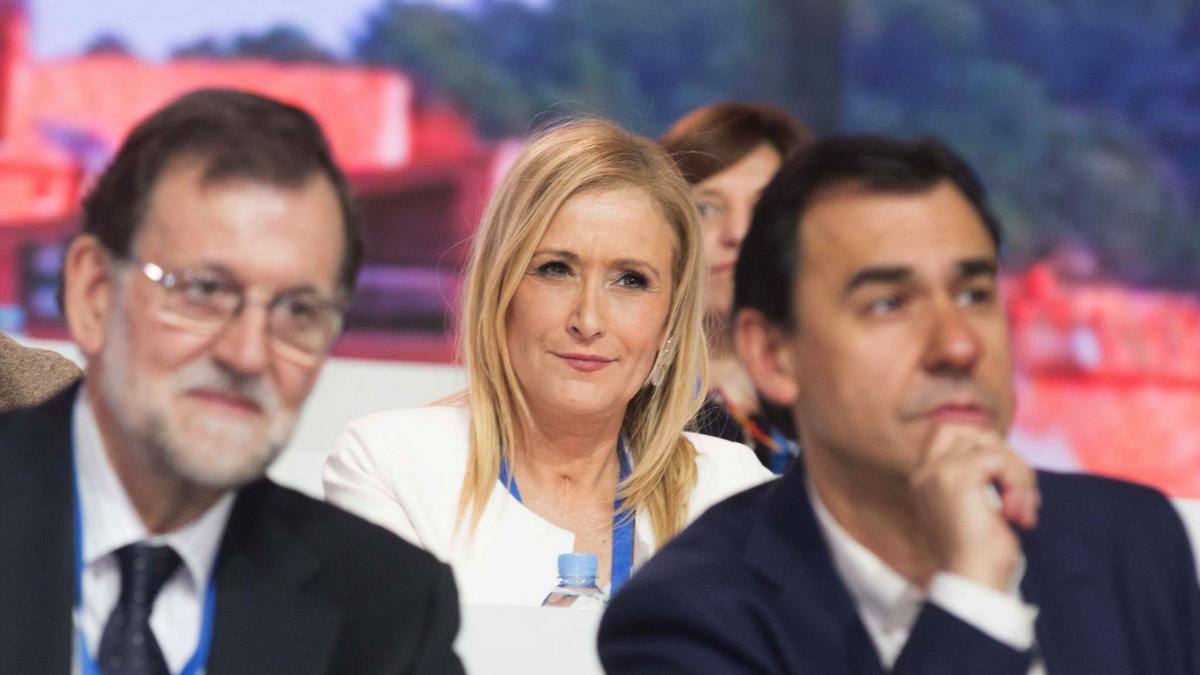 Mariano Rajoy, con Fernando Martínez Maíllo y Cristina Cifuentes.