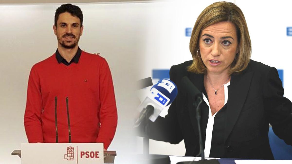 Los dos puntales de Susana Díaz en Cataluña: Dante Pérez y Carme Chacón. (Foto: OKD)