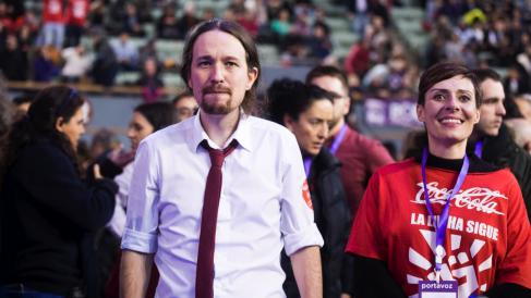 El líder de Podemos, Pablo Iglesias, en Vistalegre 2. (Foto: Flickr)