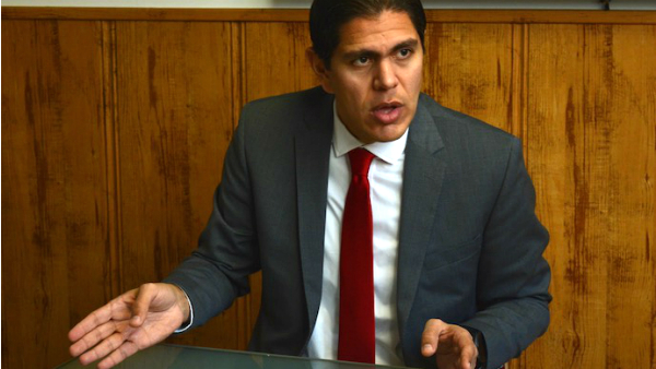 Lester Toledo, diputado de Voluntad Popular, partido de Leopoldo López, preso político de la dictadura venezolana.