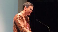 Pedro Sánchez, durante su intervención en Burlada (Navarra).