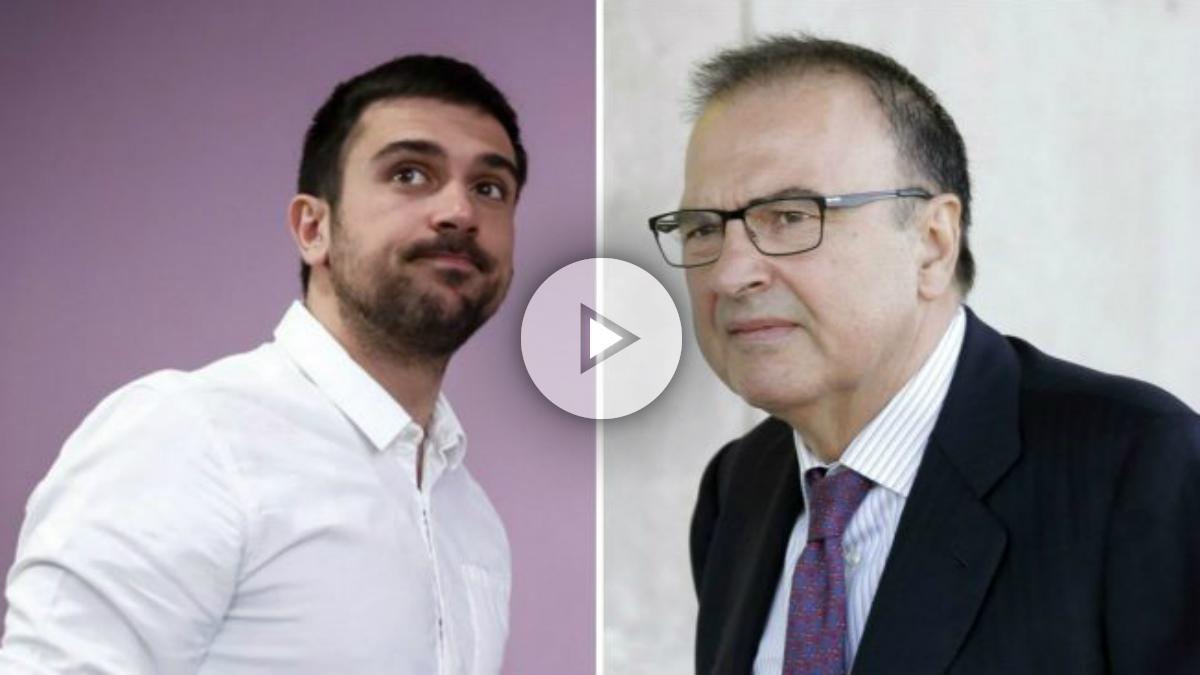 Ramón Espinar Merino y Ramón Espinar Gallego, hijo podemita y padre 'black' condenado.