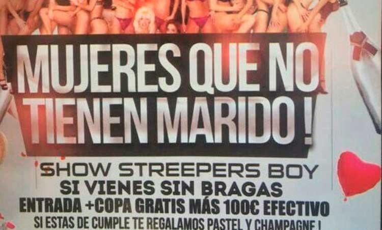 Una discoteca de Barcelona ofrece 100 euros a las mujeres que vayan sin bragas