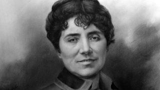 La escritora gallega Rosalía de Castro.