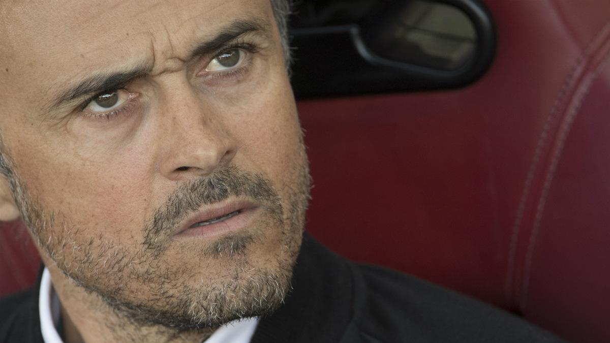 Luis Enrique empleó un tono borde en la rueda de prensa. (AFP)
