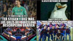 Los memes dieron el toque de humor al Atlético-Barcelona.