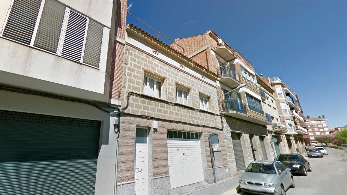 Calle Prudencia Comellas, en Manresa, donde se ha producido el suceso.