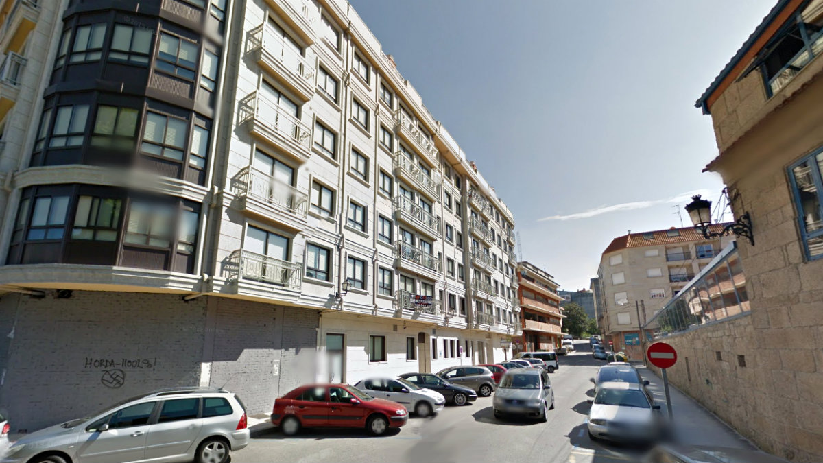 Calle Perillana en Ponteareas (Pontevedra).
