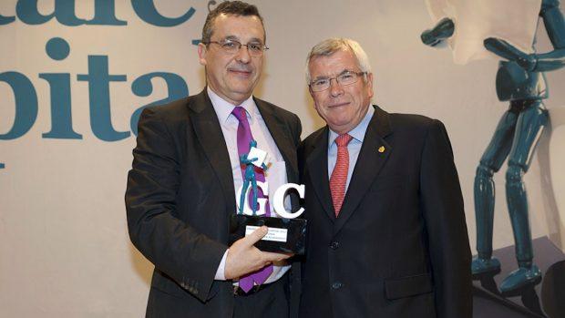 El juez decano de Getafe, Javier Achaerandio y el ex alcalde socialista del municipio, Pedro Castro.
