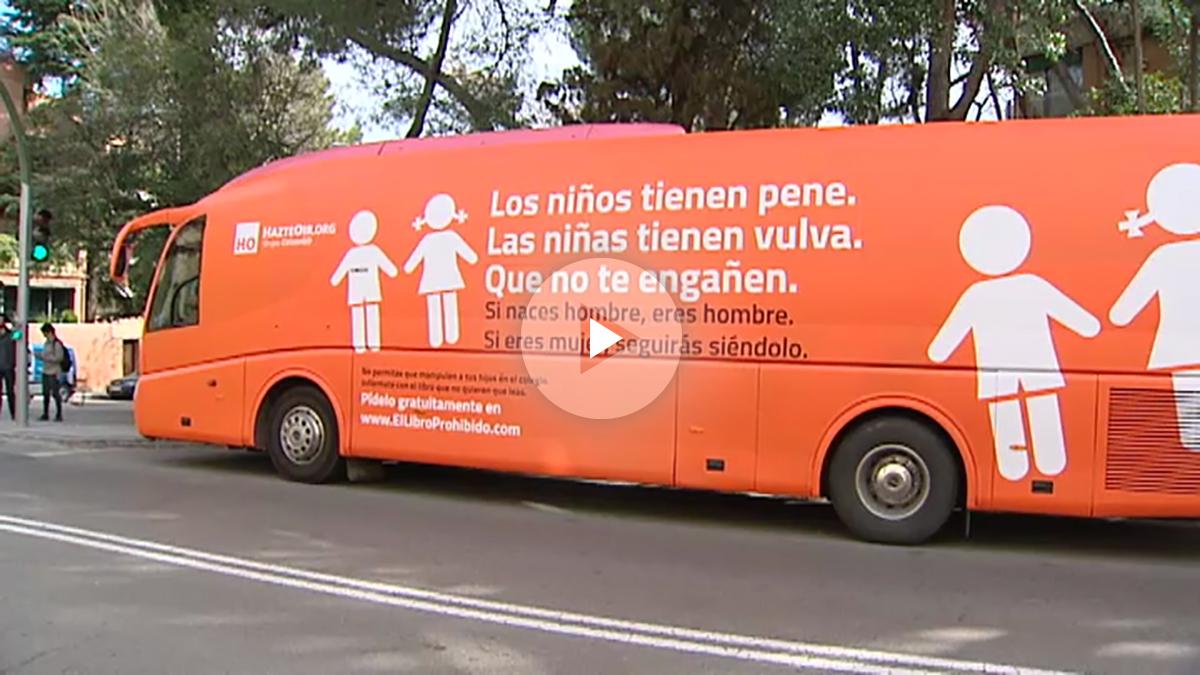 El autobús de la antitransexualidad de HazteOir