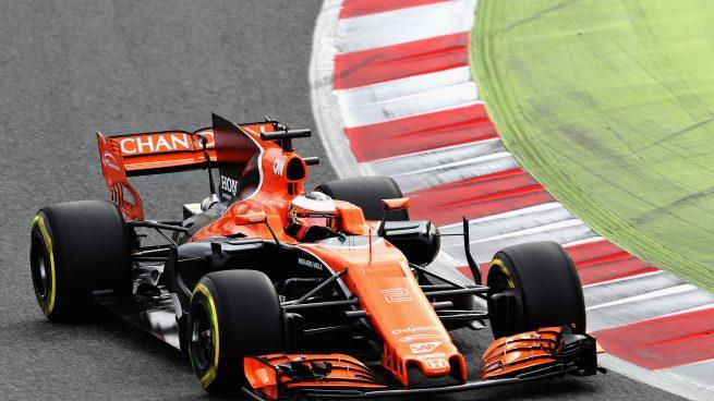 Stoffel Vandoorne a los mandos del MCL32 de McLaren-Honda en Barcelona (Getty)
