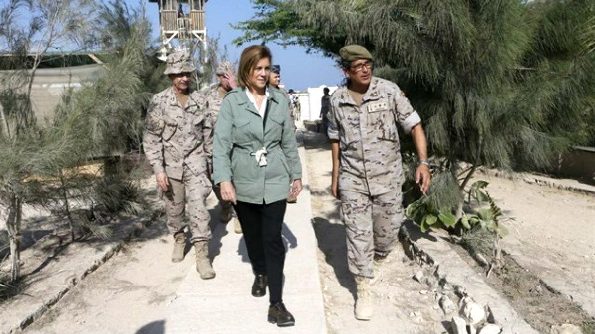 La ministra Cospedal, en su visita al Líbano. (Ministerio de Defensa)