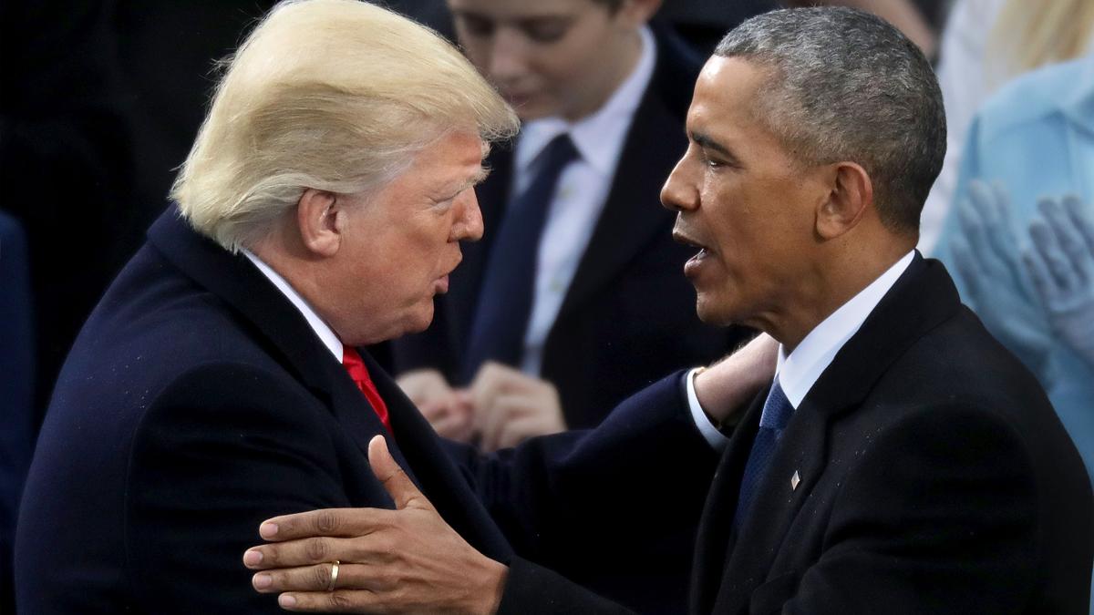 Donald Trump y Barack Obama. (Foto: AFP)