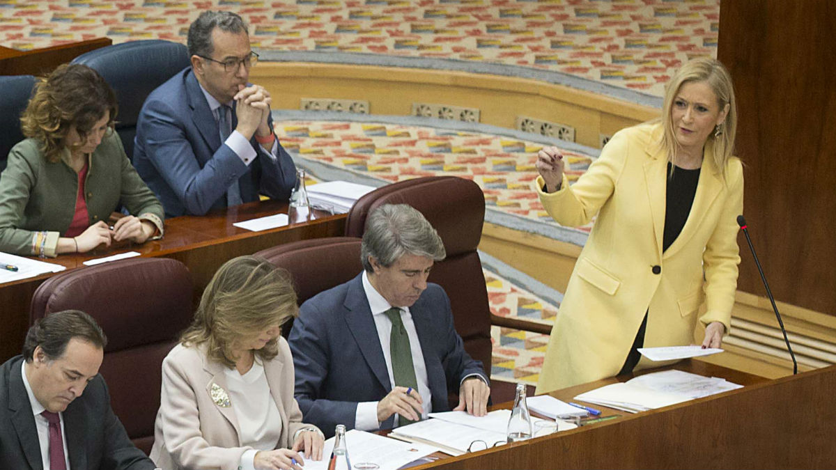 Cristina Cifuentes en la Asamblea de Madrid (CAM. Alberto Cuéllar).