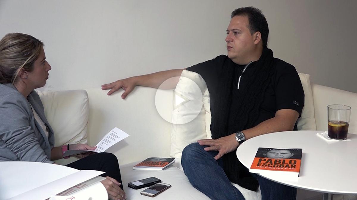 Juan Pablo Escobar, durante la entrevista con OKDIARIO.