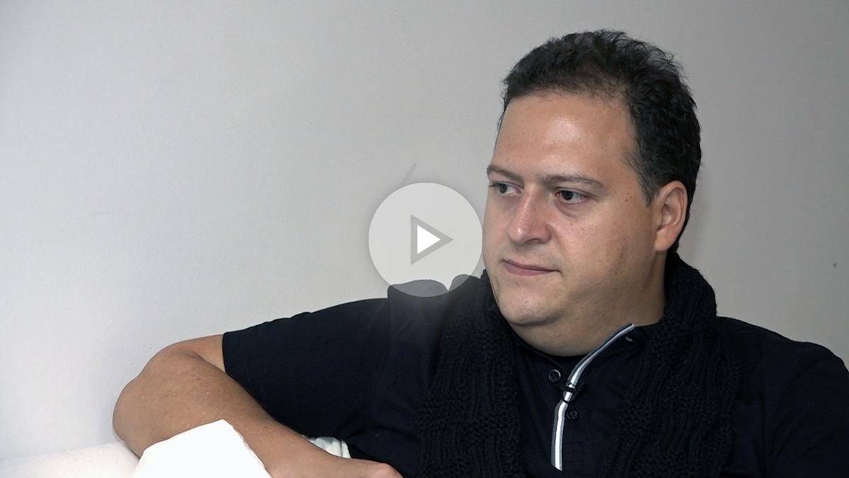 OKDIARIO entrevista al hijo de Pablo Escobar. (Foto y vídeo: Marcos Rivera)