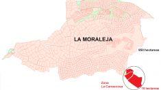 """Zona de """"La Moraleja"""" afectada por el nuevo desarrollo urbanístico."""
