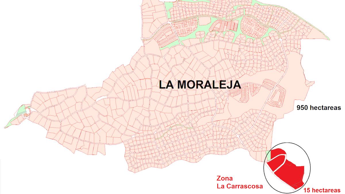 Zona de «La Moraleja» afectada por el nuevo desarrollo urbanístico.