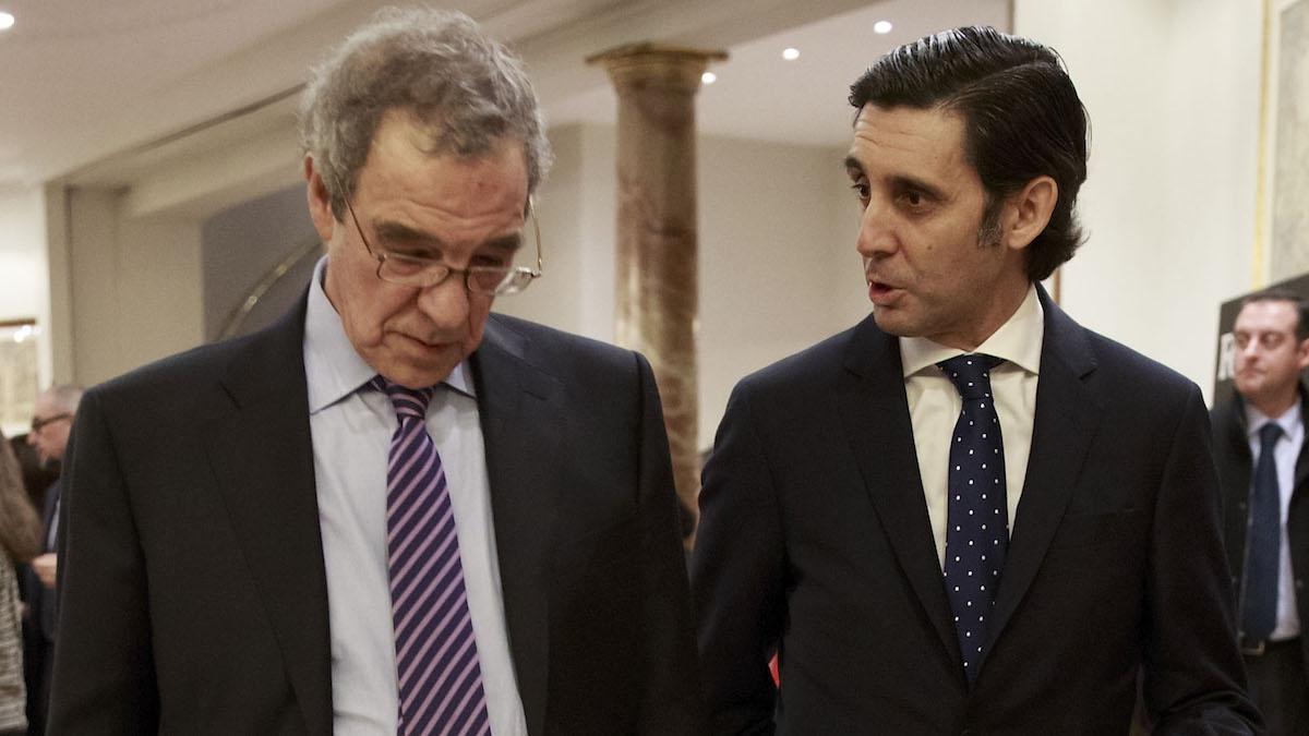 César Alierta y José María Álvarez Pallete en los premios Forbes. (Foto: Getty)