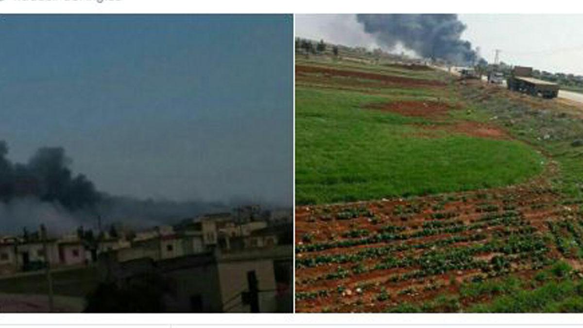 Imágenes del avión sirio accidentado.