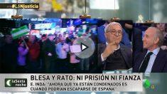Eduardo Inda y Javier Sardá en La Sexta Noche.