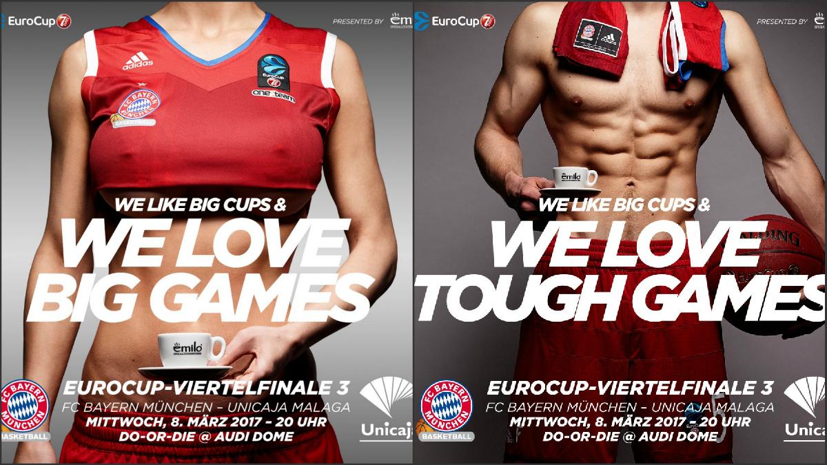 El anuncio sexista del Bayern Munich y la rectificación en versión masculina.