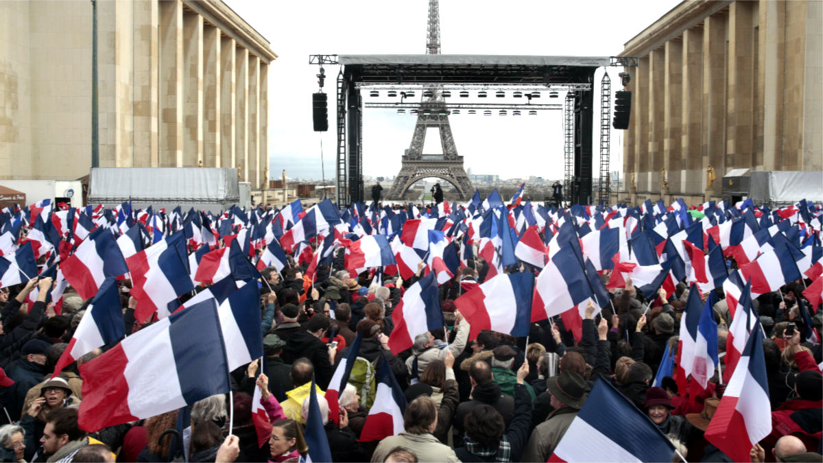 Concentración de apoyo a Fillon en París (Foto: AFP).