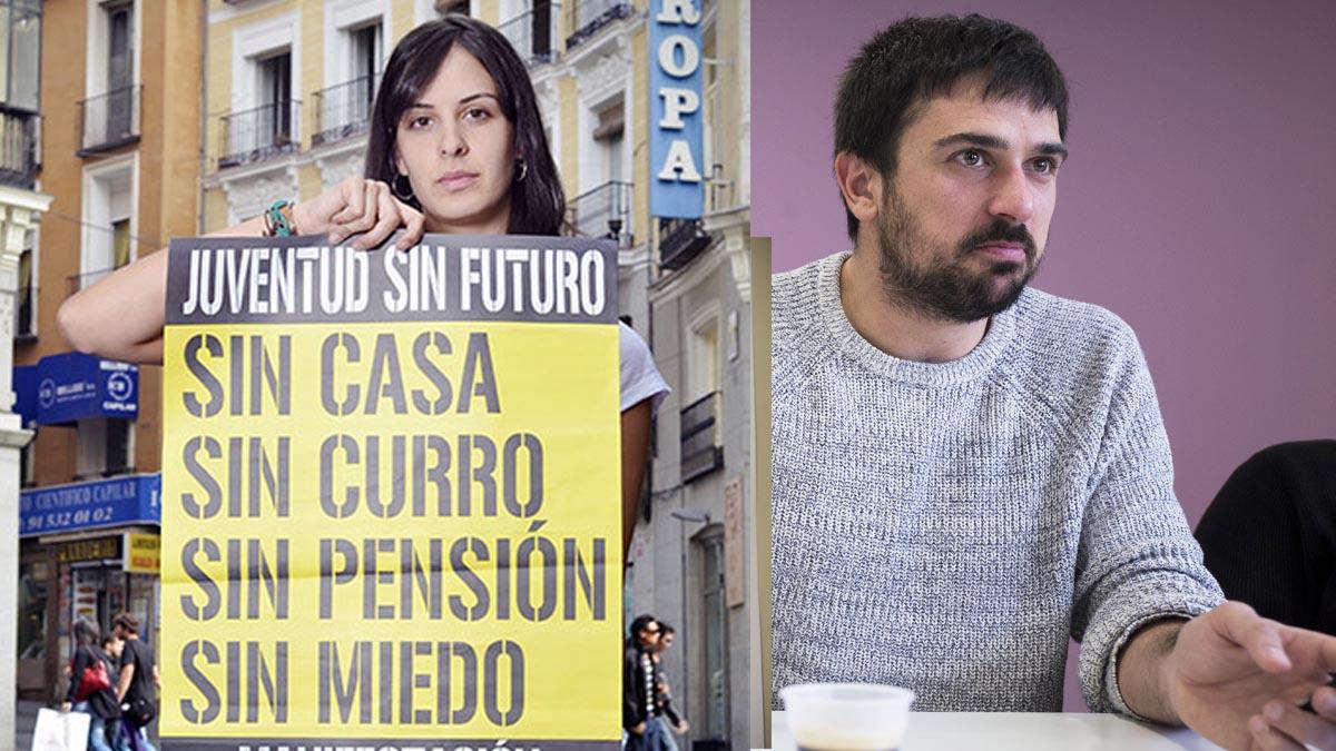 Rita Maestre y Ramón Espinar, entre los impulsores de Juventud Sin Futuro.