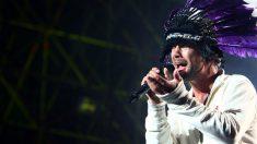 El artista Jamiroquai en uno de sus últimos conciertos en Italia. Foto: GettyImages