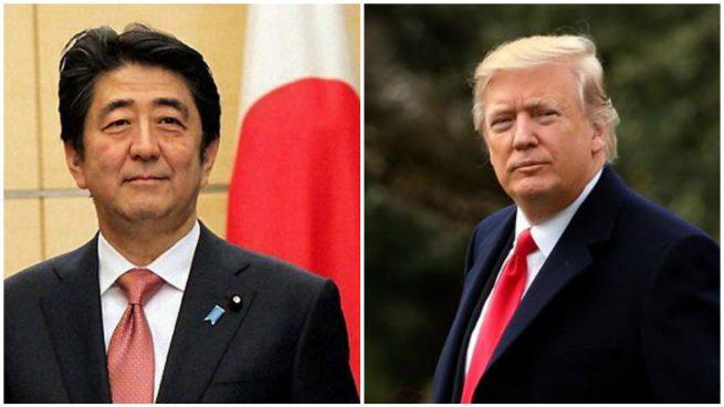 """Trump habla con Abe para respaldar a Japón """"al 100%"""" tras los misiles lanzados por Corea del Norte"""