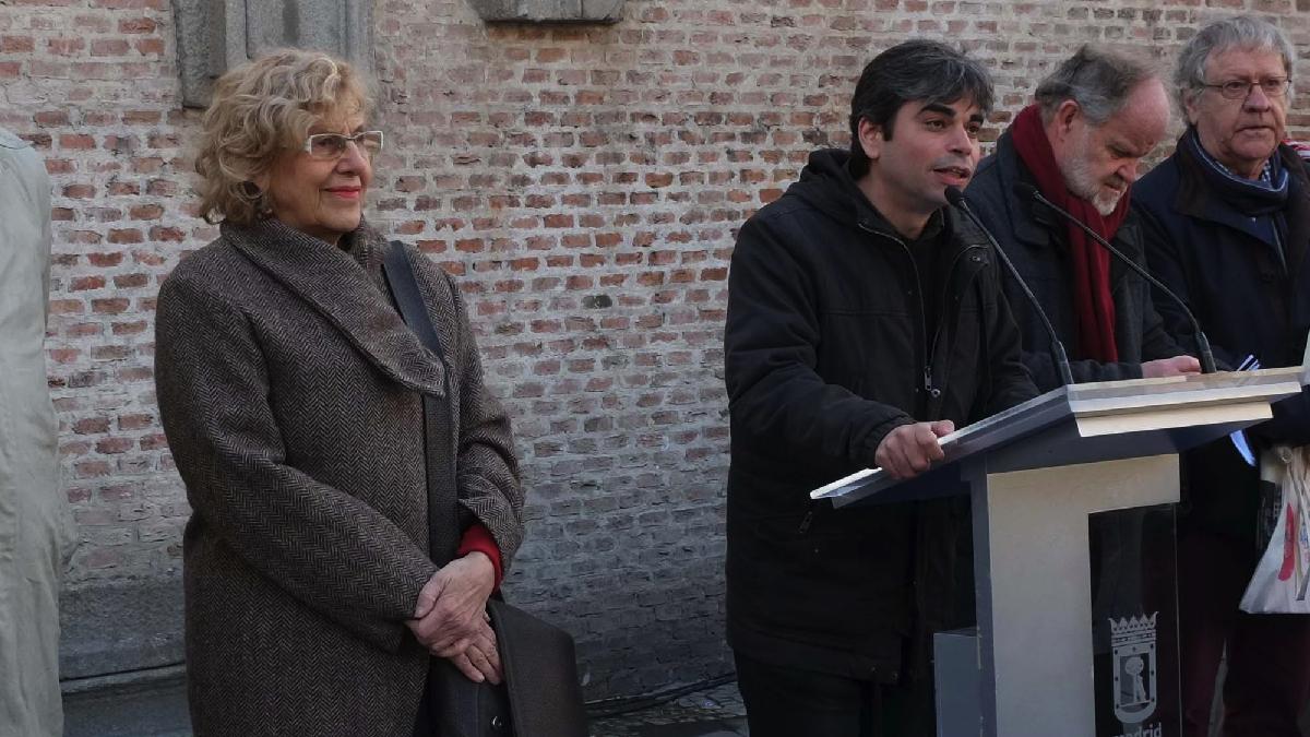 Manuela Carmena junto a Jorge García Castaño.