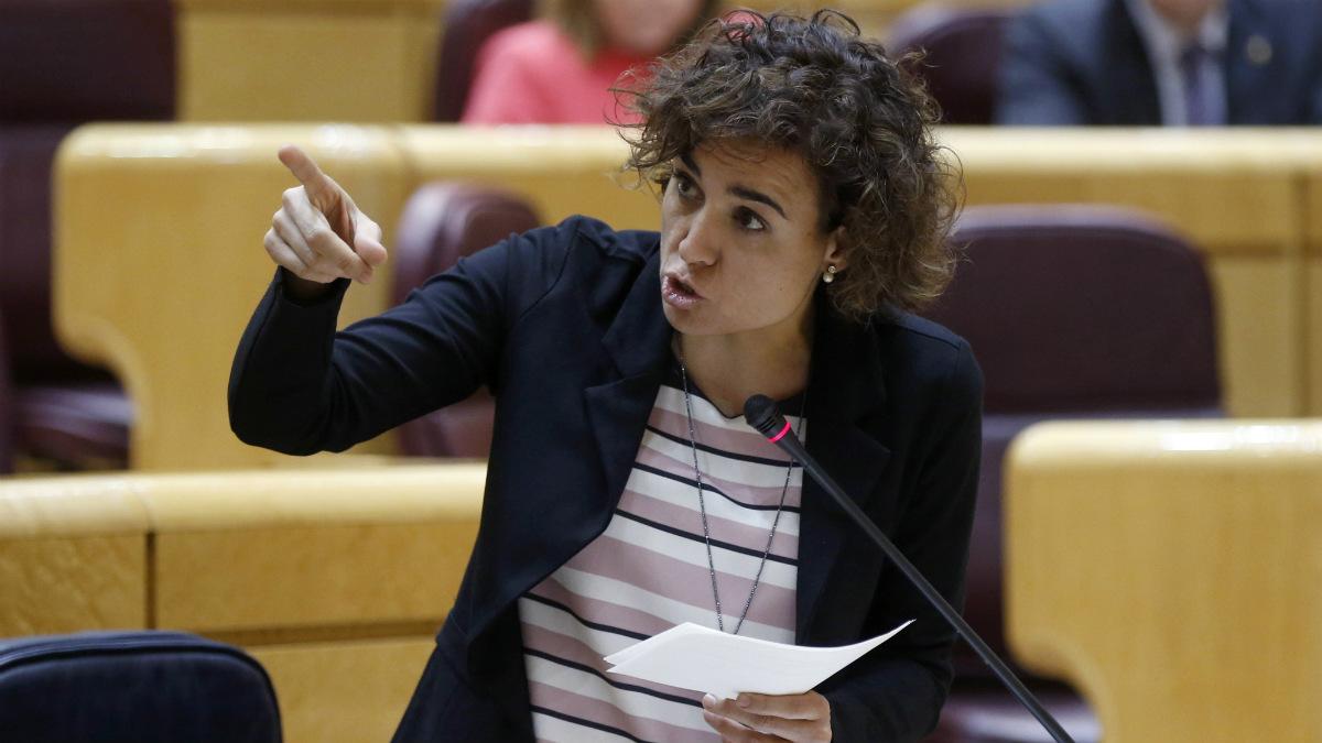 La ex ministra Dolors Montserrat, en el Senado. (EFE)