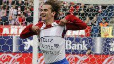 Antoine Griezmann celebra un gol ante el Valencia.