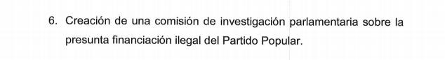 Punto 6 del Pacto Anticorrupción firmado por el PP y Ciudadanos