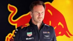 Christian Horner durante la jornada de test en Barcelona Getty)