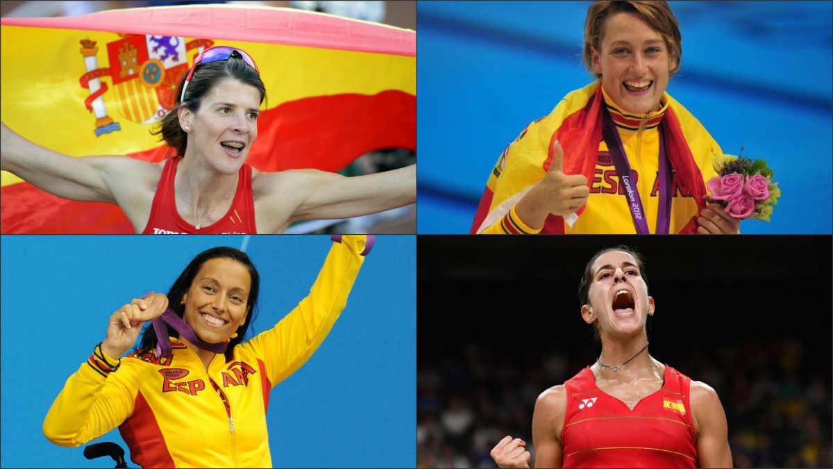 Cuatro de las grandes deportistas españolas de la historia.