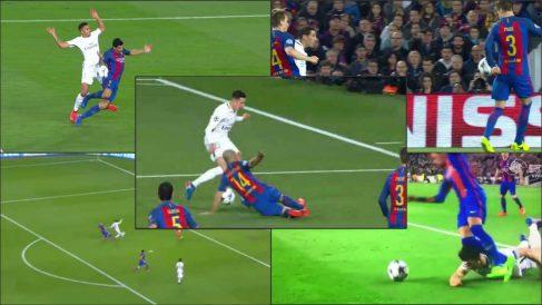 El árbitro ayudó claramente al Barcelona.