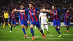 Sergi Roberto anotó el gol que daba el pase al Barcelona en el 95. (Getty)