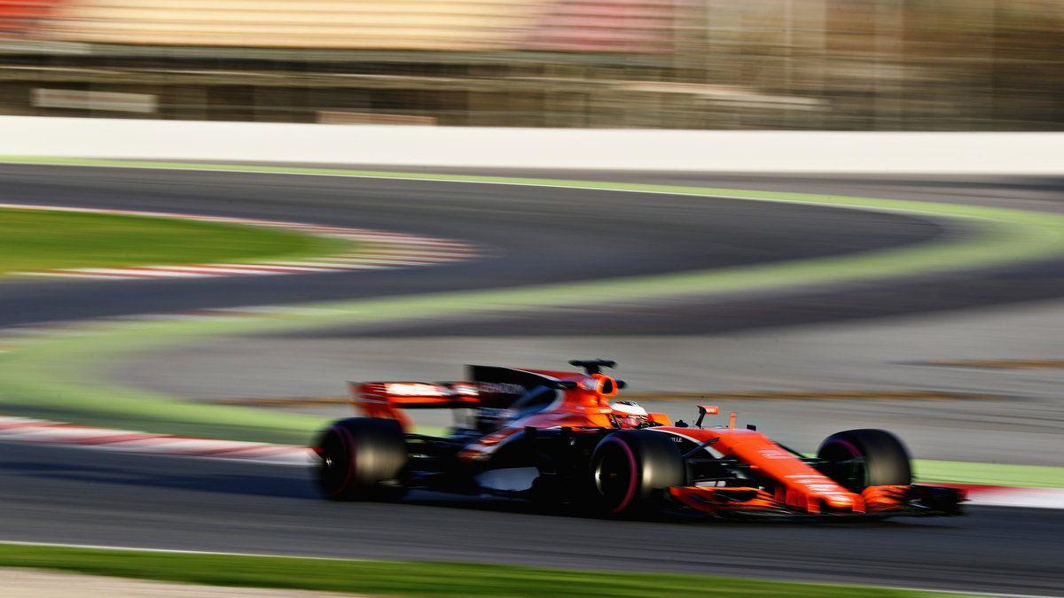 Stoffel Vandoorne con el MCL32 de McLaren-Honda en Montmeló (Getty)