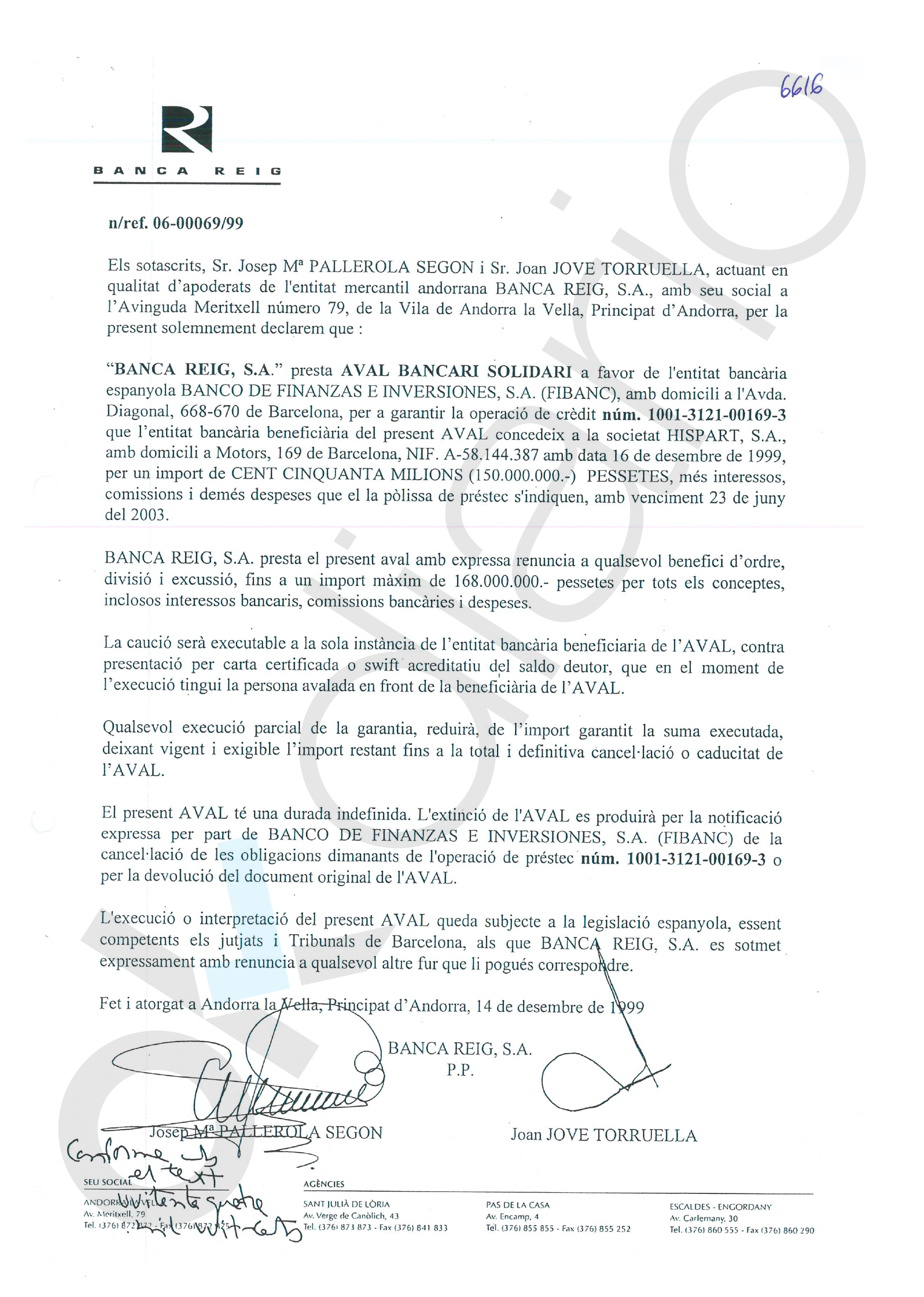 Pujol avaló con 2 millones desde sus cuentas en Andorra la campaña de CiU en las generales de 2000